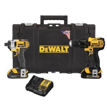 DEWALT 20-Volt MAX Drill Driver/Impact Driver Combo Kit w Batteries/Charger/Case