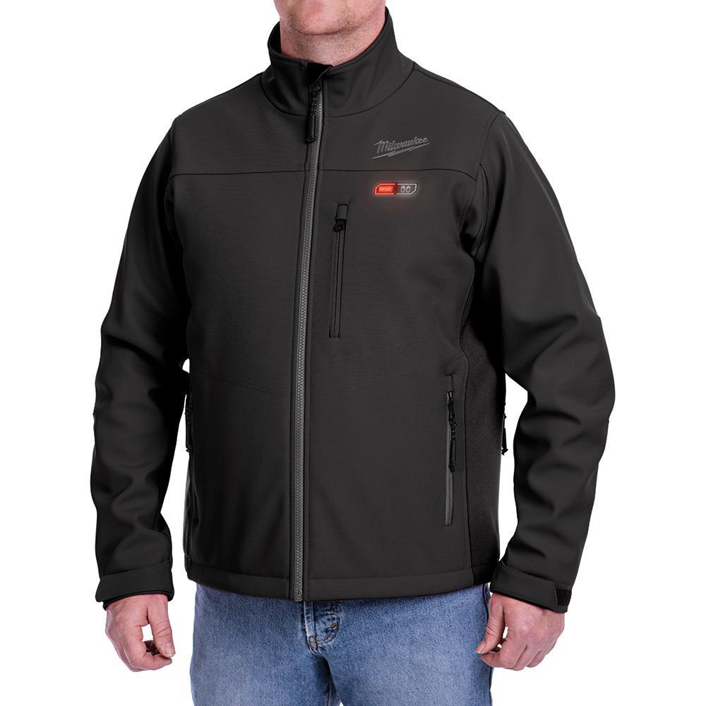 Milwaukee Men's XL M12 12-Volt Lithium-Ion Black Heated Jacket (Jacket Only)