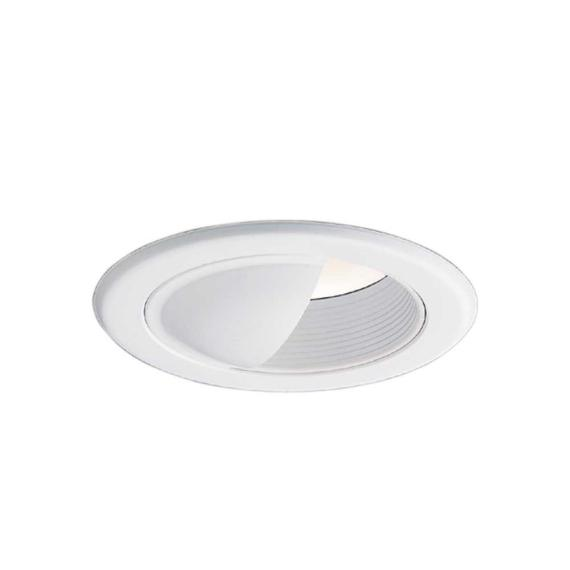 Halo 5 in. White Recessed Ceiling Light Wall Wash Baffle Trim 5030W