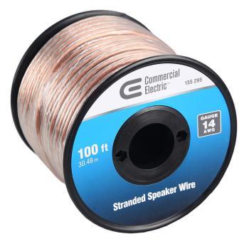 Commercial Electric 100 ft. 14-Gauge Stranded Speaker Wire Y283465