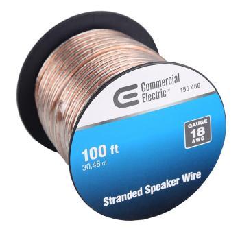 Commercial Electric 100 ft. 18-Gauge Stranded Speaker Wire Y611814