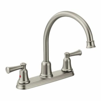 CLEVELAND CAPSTONE KITCHEN TWO HANDLE HI ARCH STAINLESS LESS SPRAY 41611CSL