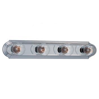 Sea Gull Lighting De-Lovely 4-Light Chrome Vanity Bar Light 4701-05