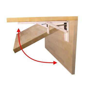 Hardwood Reflections Quick Bench 4ft. Folding Workbench UV Finish 5420QBWHUB-48