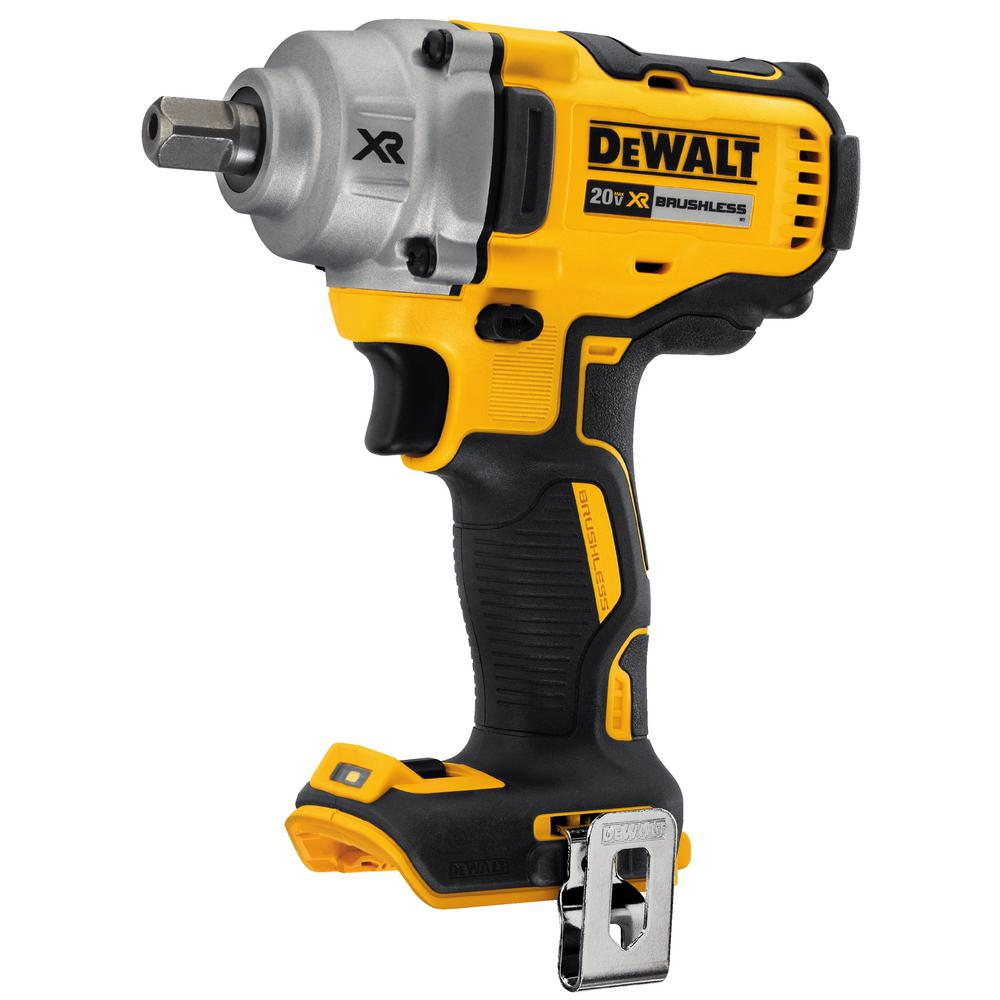 DEWALT 20-Volt Brushless 1/2″ Impact Wrench Detent Pin Anvil (Tool-Only) DCF894B