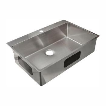 Franke Vector 9″ Dual Mount Steel 33.5″ 1-Hole Single Bowl Sink Steel HFS3322-1
