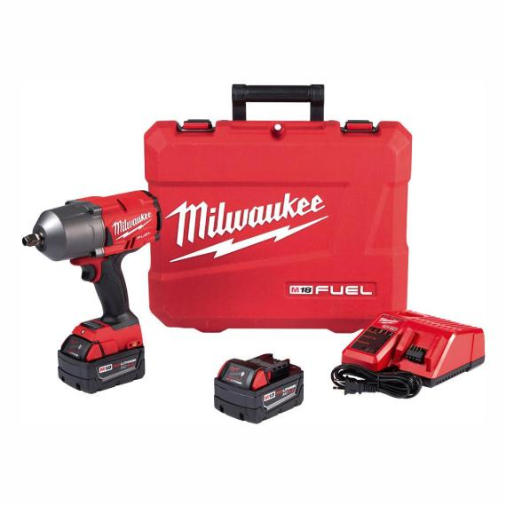 Milwaukee M18 FUEL 1/2 in. Impact Wrench with Friction Ring Kit With 2x XC5.0