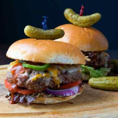 barbecue bacon cheeseburgers