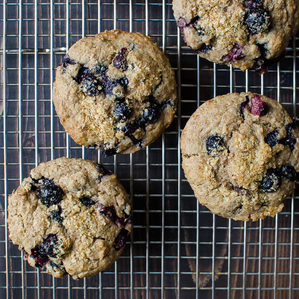 blueberry bran muffins-9