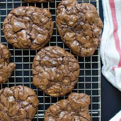 Chocolate Mocha Pecan Chunk Cookies