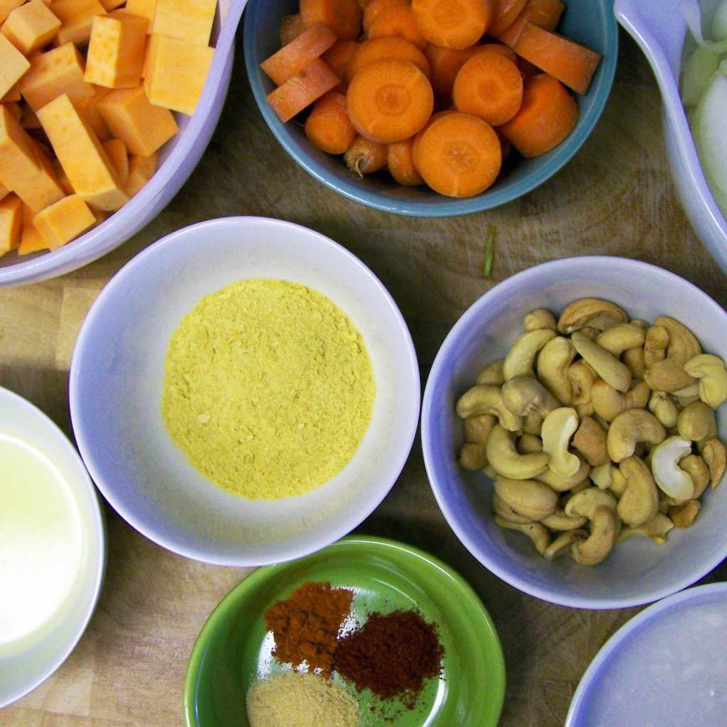 Vegan Mac and Cheese - measured ingredients