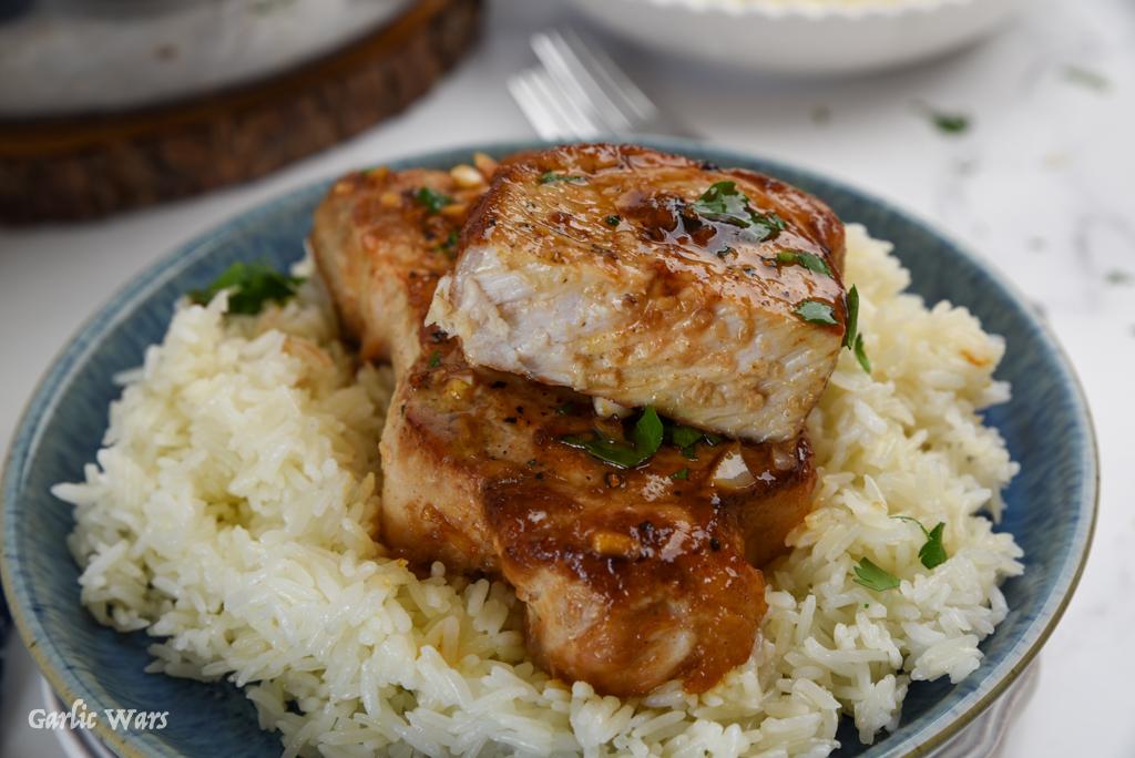 Sweet and Spicy Honey Garlic Pork Chops