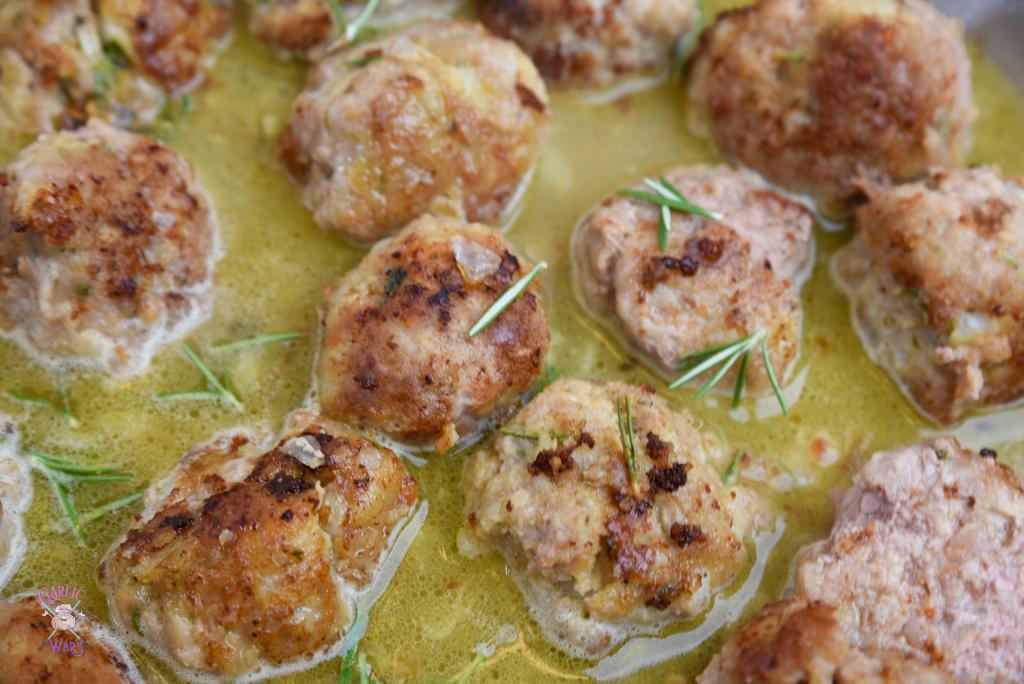 meatballs cooking in sauce