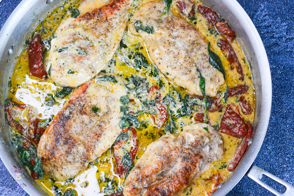 Tuscan Chicken with Creamy Basil Sauce