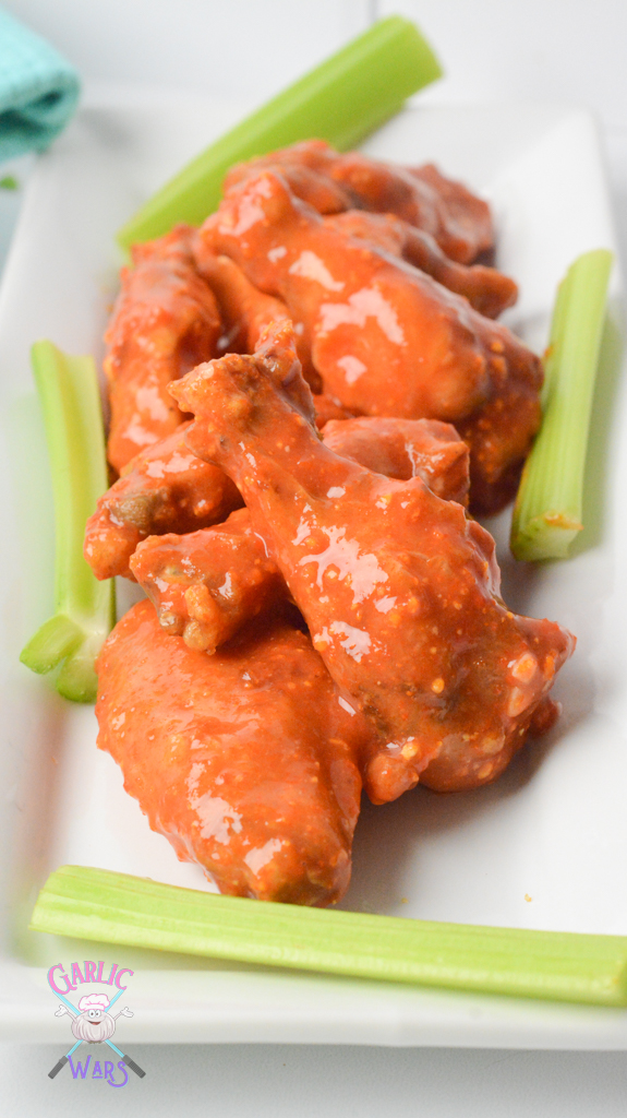 Air Fryer Chicken Wings with Homemade Buffalo Sauce