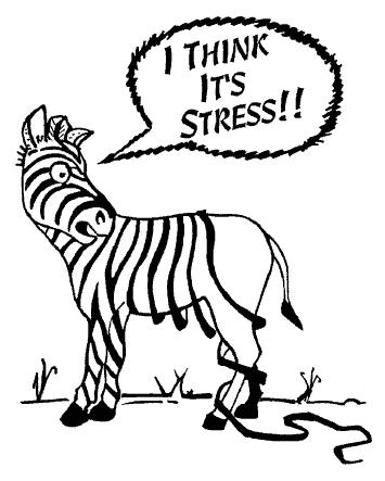 Chronic Stress Zebra Stripes