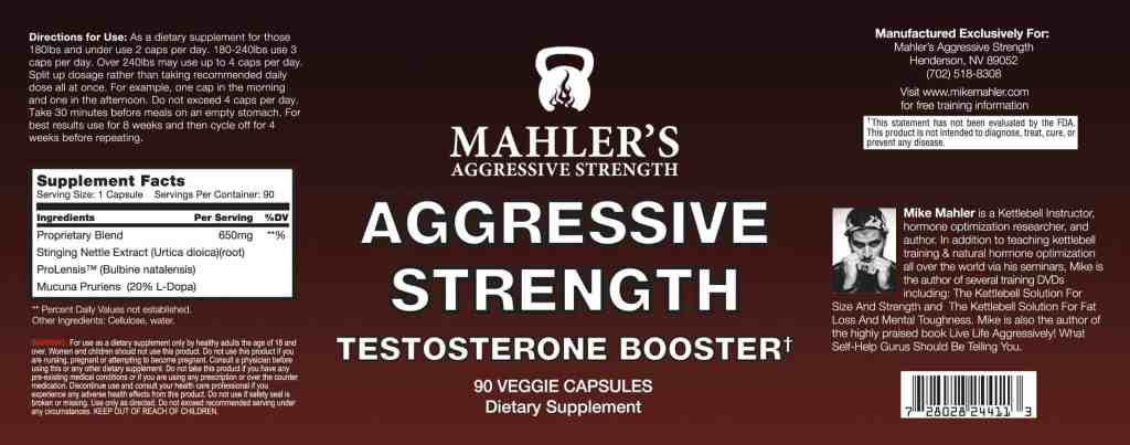 Mike Mahler's Aggressive Strength formula