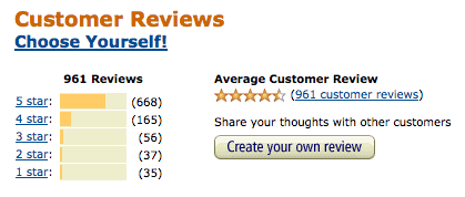 Amazon reviews for Choose Yourself