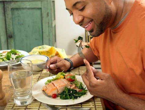 Salmon is a healthy source of protein