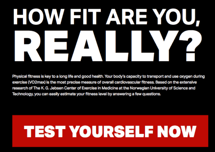 """How fit are you really?"" test"