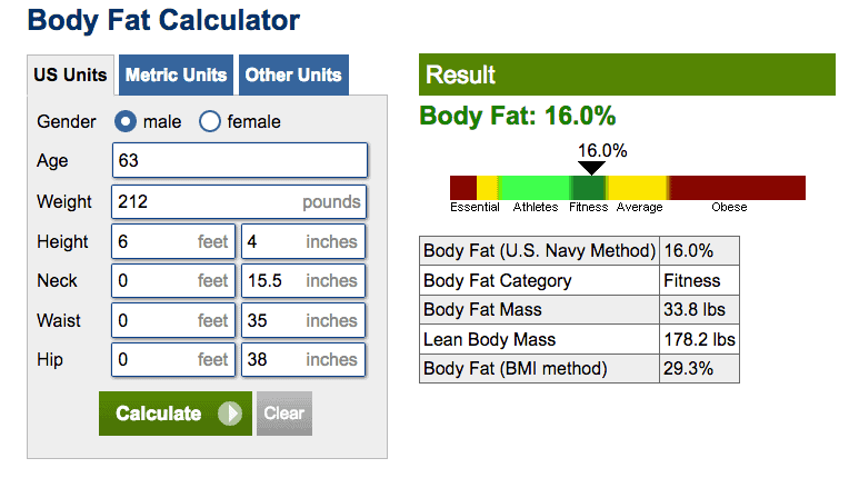 How much should you weigh, body fat calculator