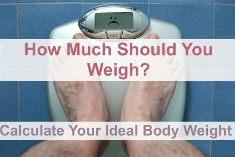 how much should you weigh