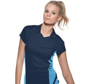 Women's team polo short sleeve