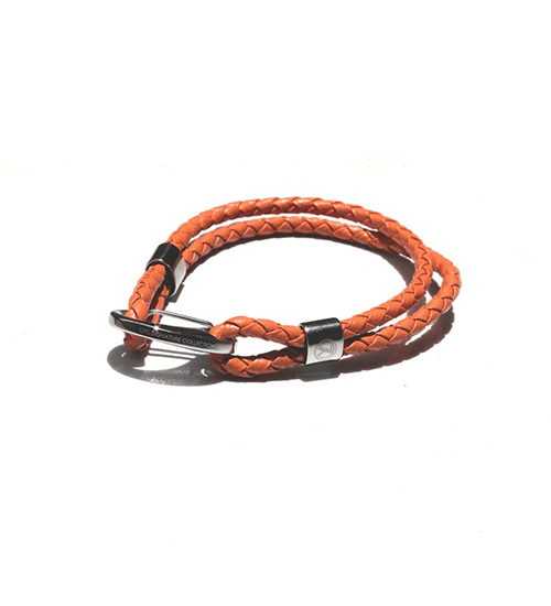 Clutch Leather orange