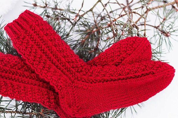 Røde Amaryllisstrømper