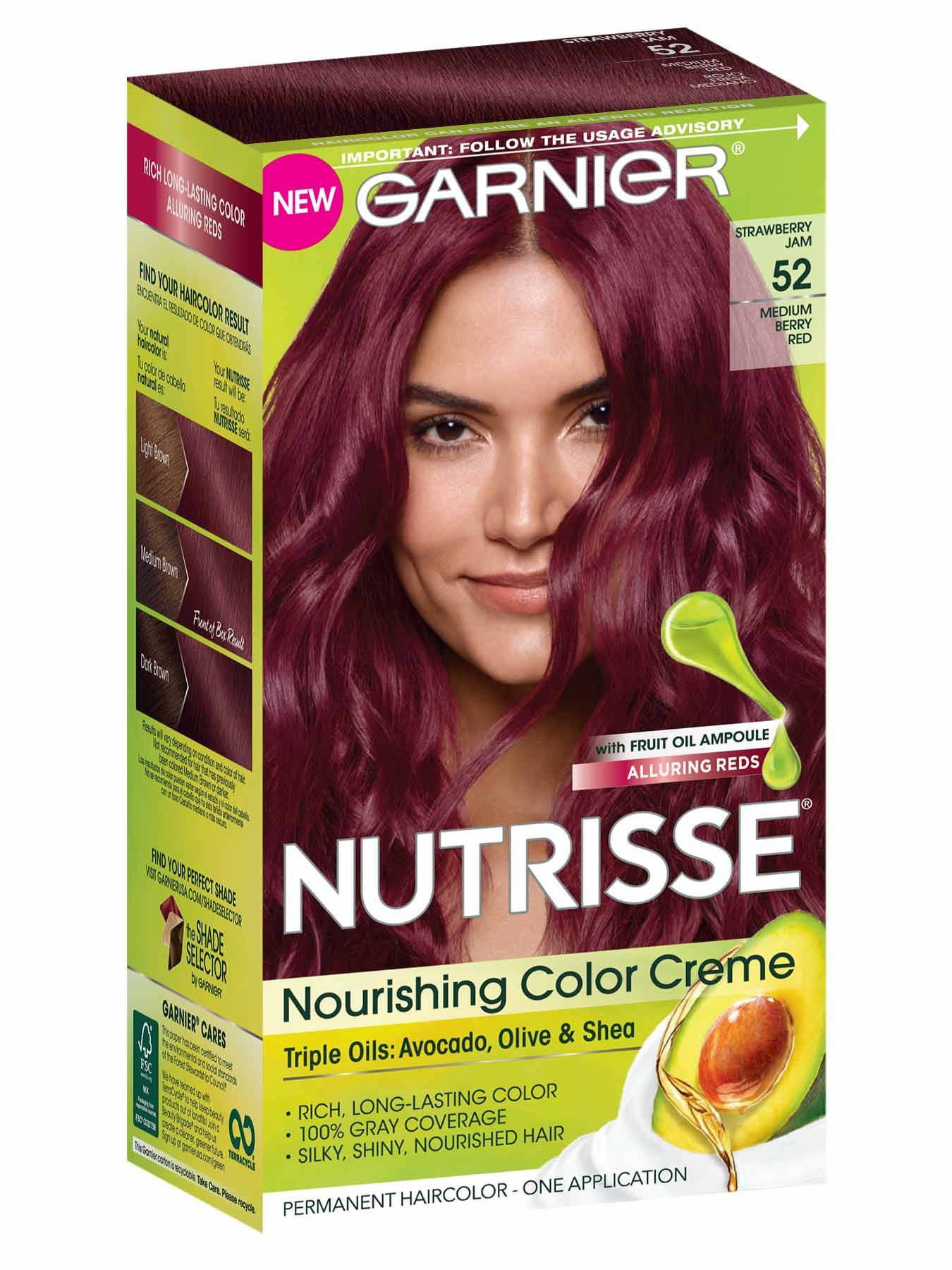 Nutrisse Nourishing Color Creme Medium Berry Red 52