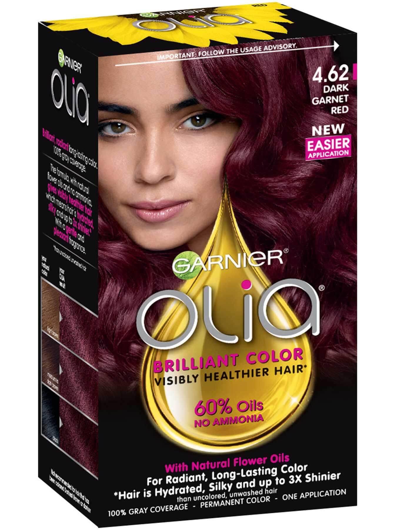 Olia Ammonia Free Permanent Hair Color Deep Garnet Red