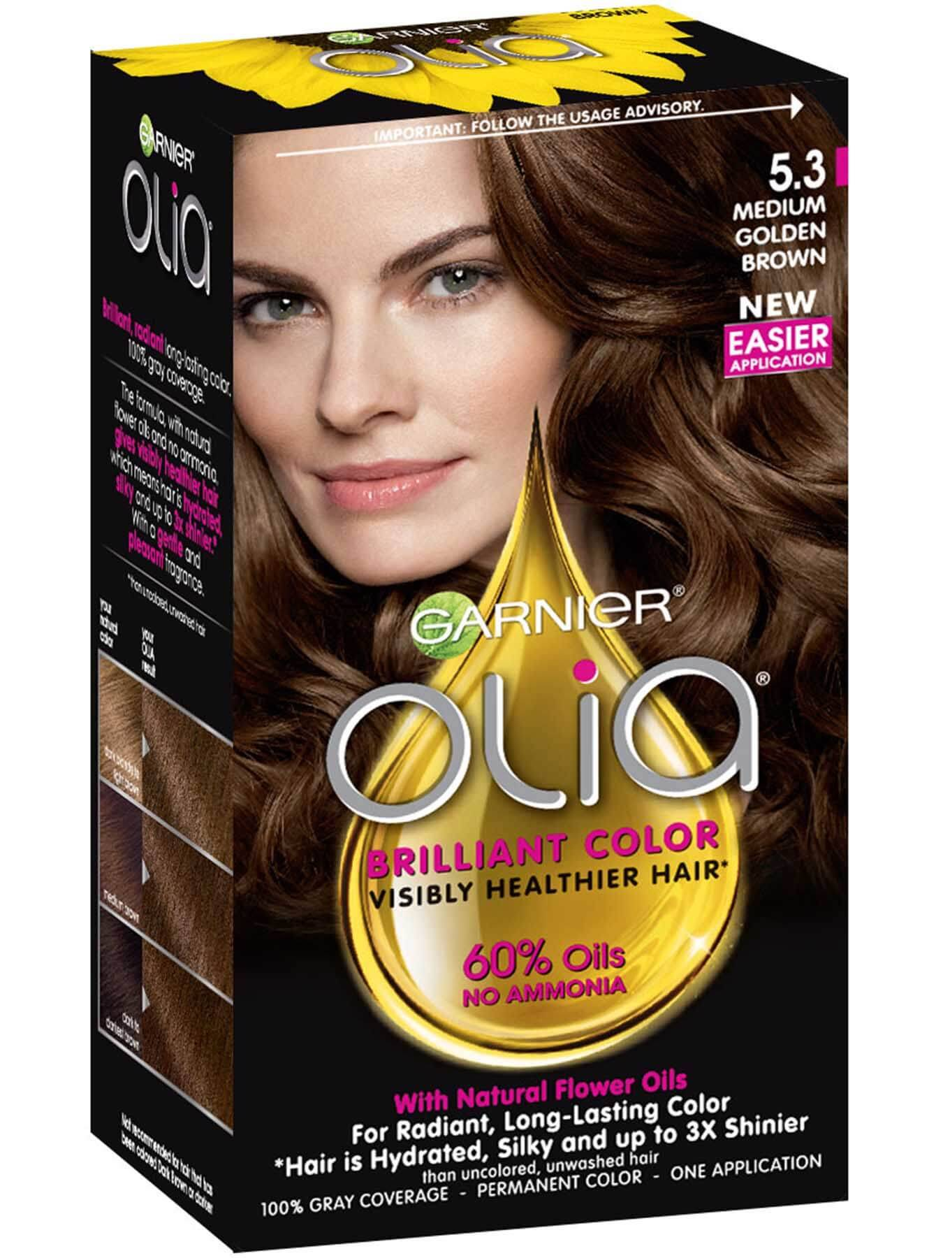 Olia Ammonia Free Permanent Hair Color Med Golden