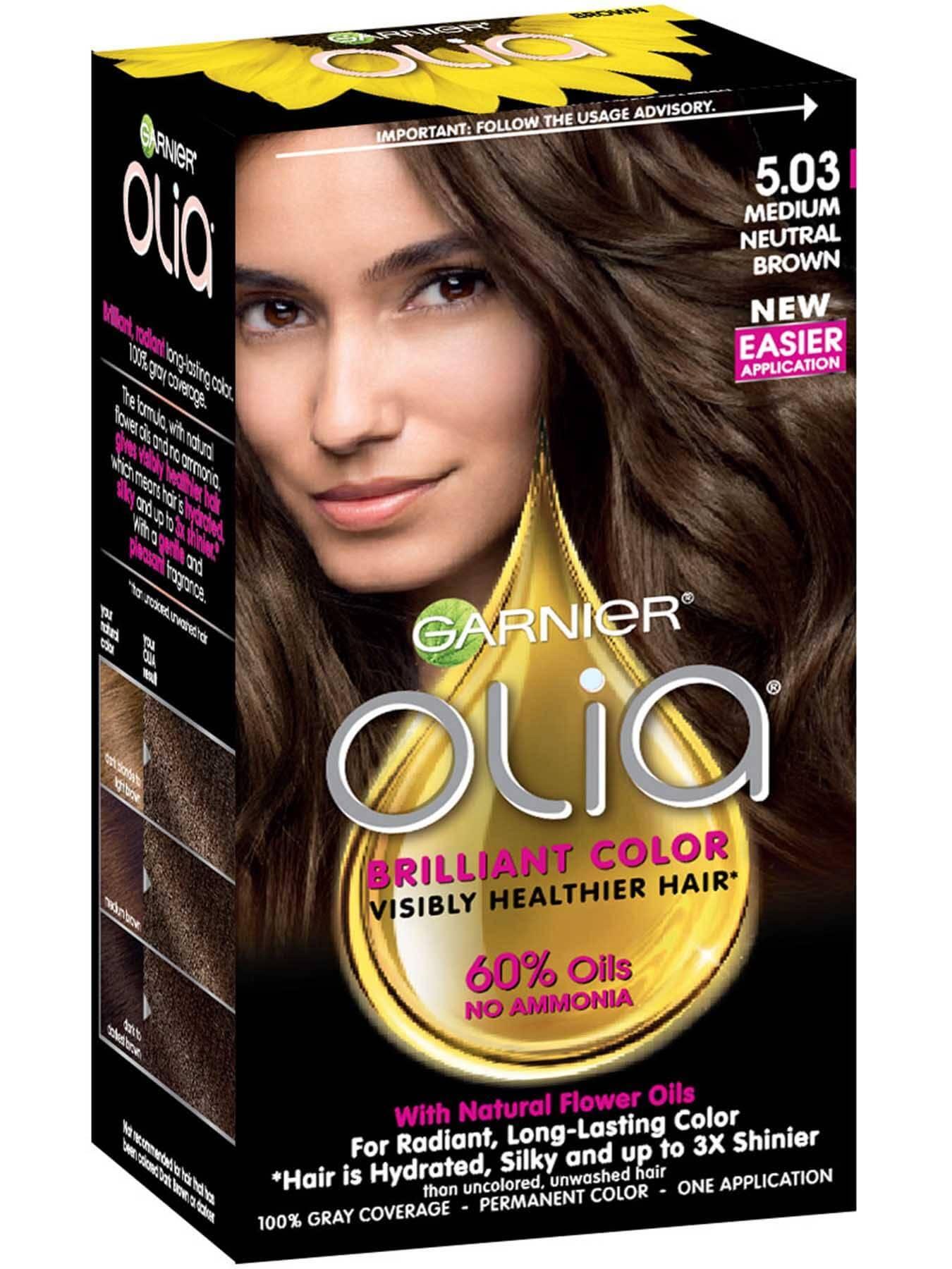 Olia Ammonia Free Permanent Hair Color Neutral Brown