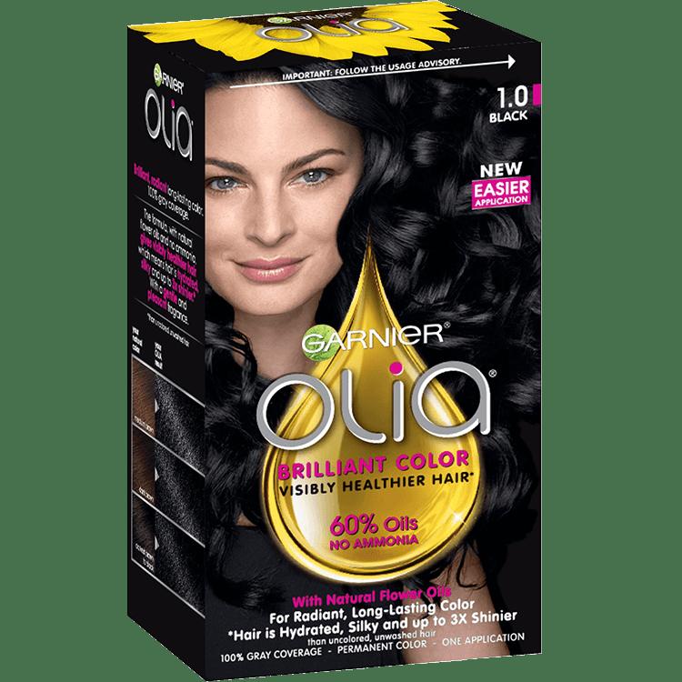 Olia Ammonia Free Permanent Hair Color Black Garnier