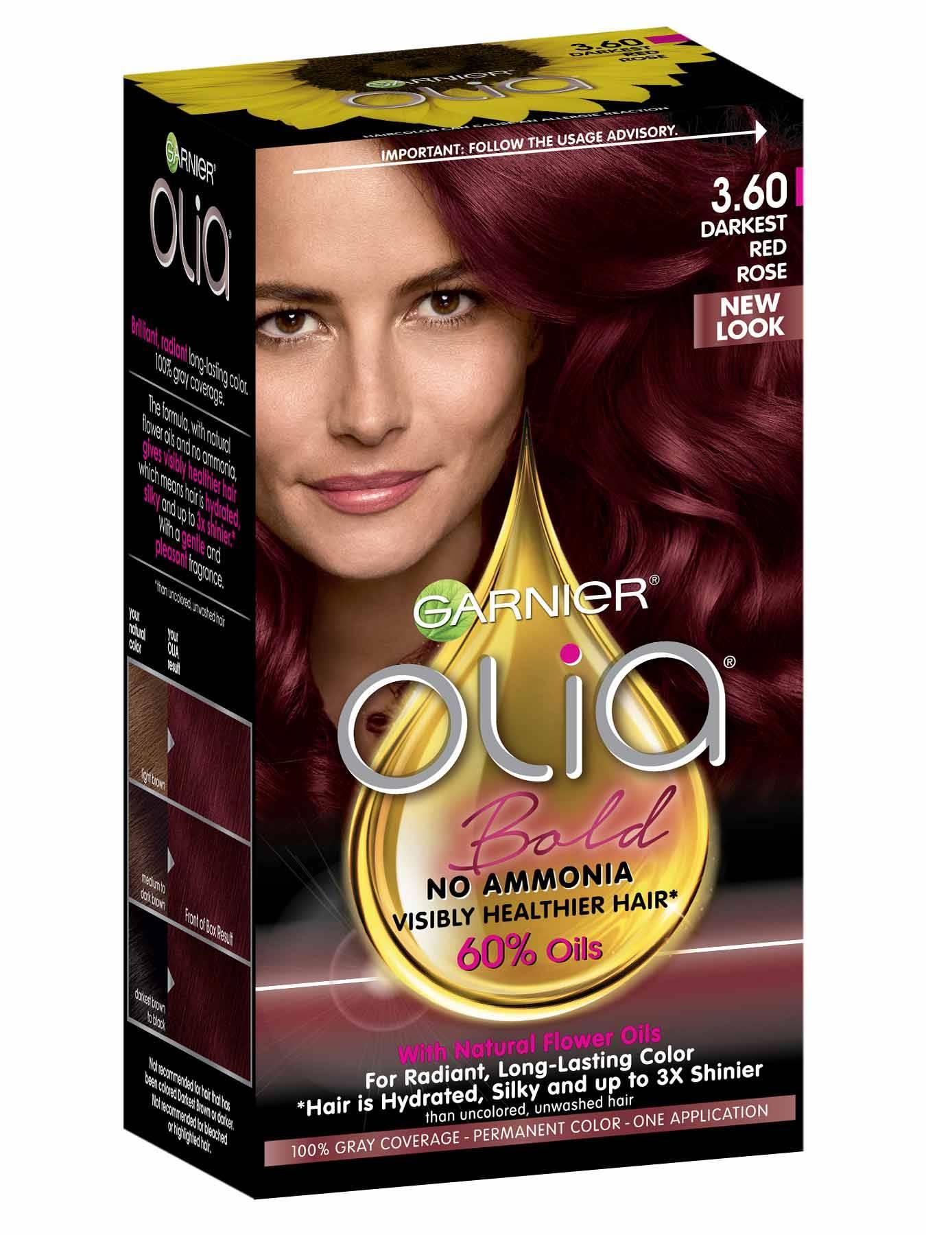 Olia Darkest Red Rose Hair Color Ammonia Free Hair Dye