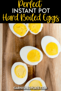 Perfect Instant Pot Hard Boiled Eggs are the simplest and most foolproof way of making Hard Boiled Eggs every time! #instantpot #boiledeggs #eggs
