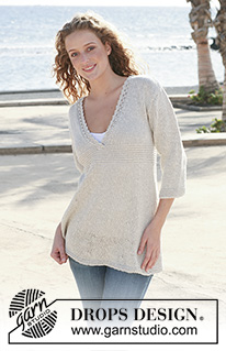 Knitted Tunic with Lace Border