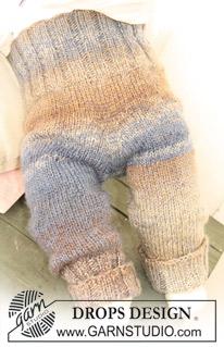 strikkede baby bukser