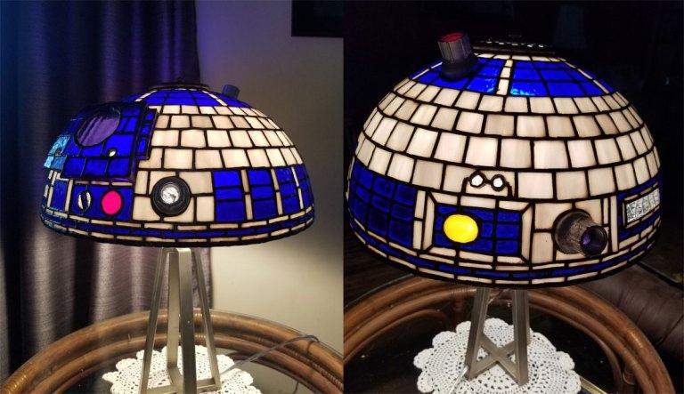 luminária-vitral-r2d2