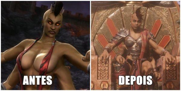 sheeva antes e depois