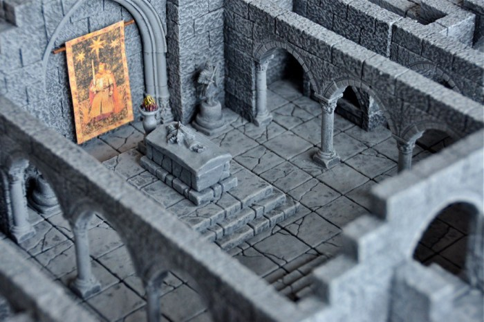 Garreco Merlin's Magic Plaster and Hirst Arts Molds Dungeons