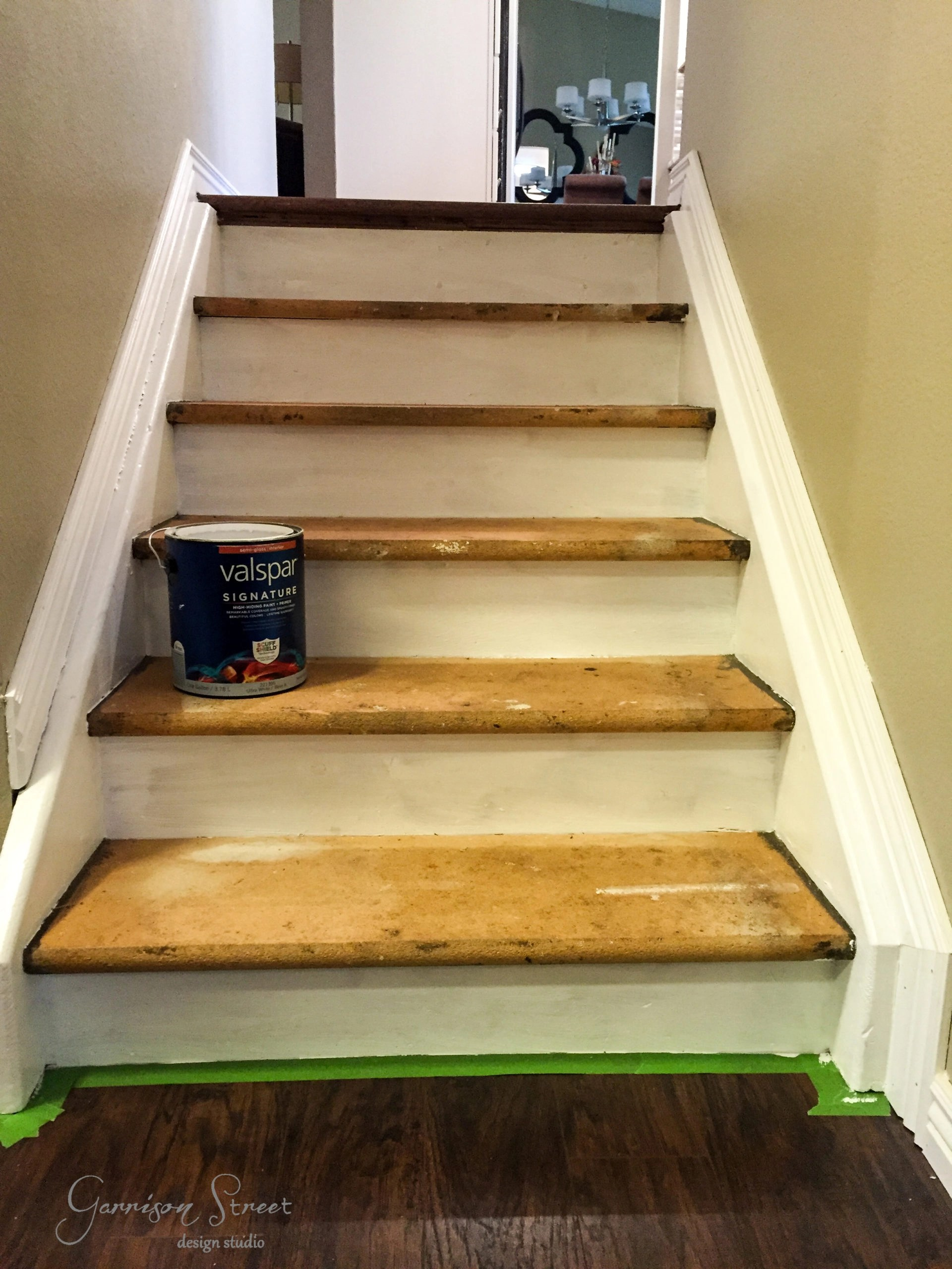 Then I Started On The Treads And Did Every Other Stair So I Could Still Get  Up And Down The Stairs While They Were Drying 🙂