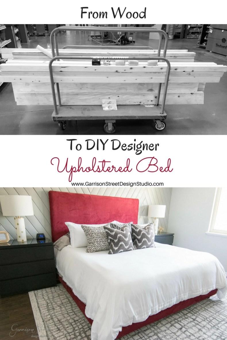 DIY Designer Upholstered Bed   Garrison Street Design Studio