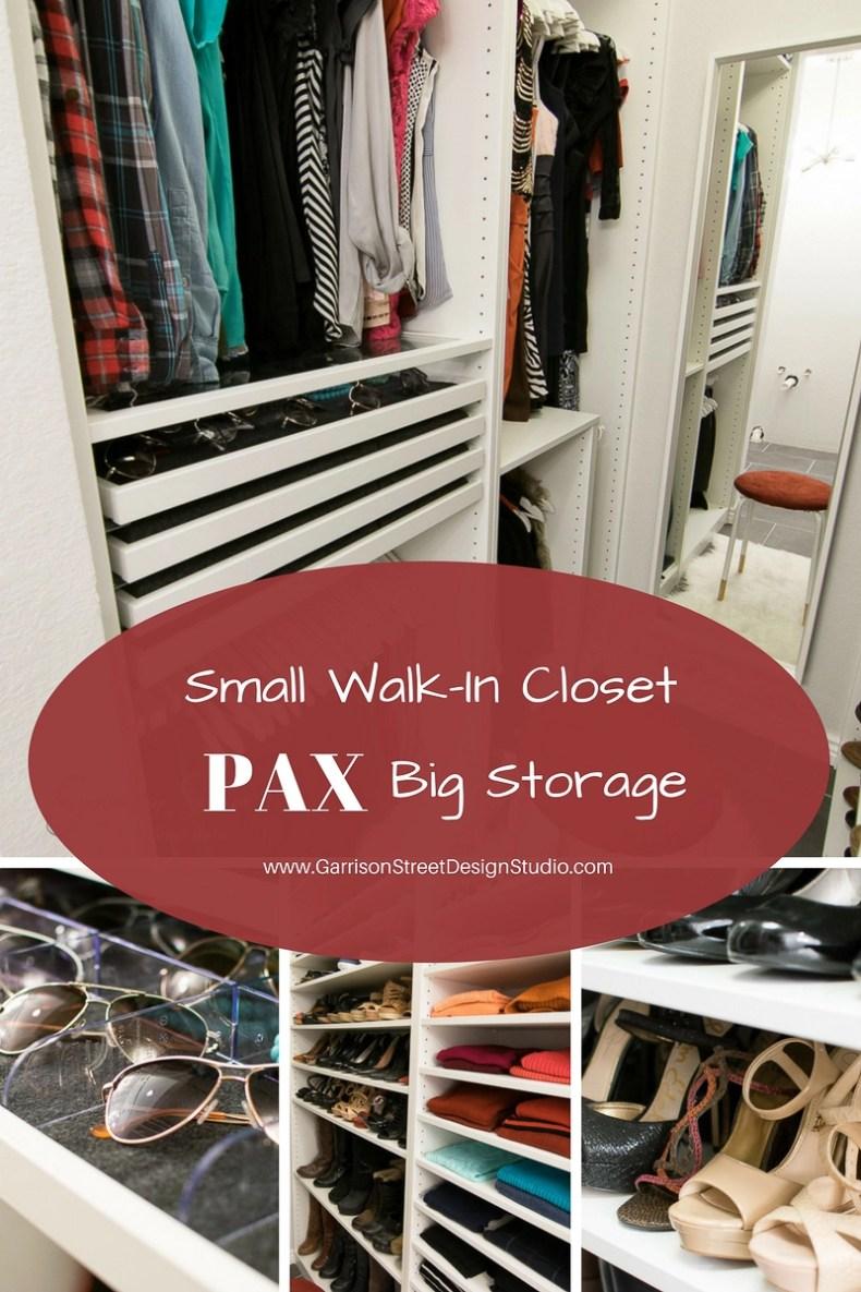 Small Walk-In Closet PAX Big Storage | Garrison Street