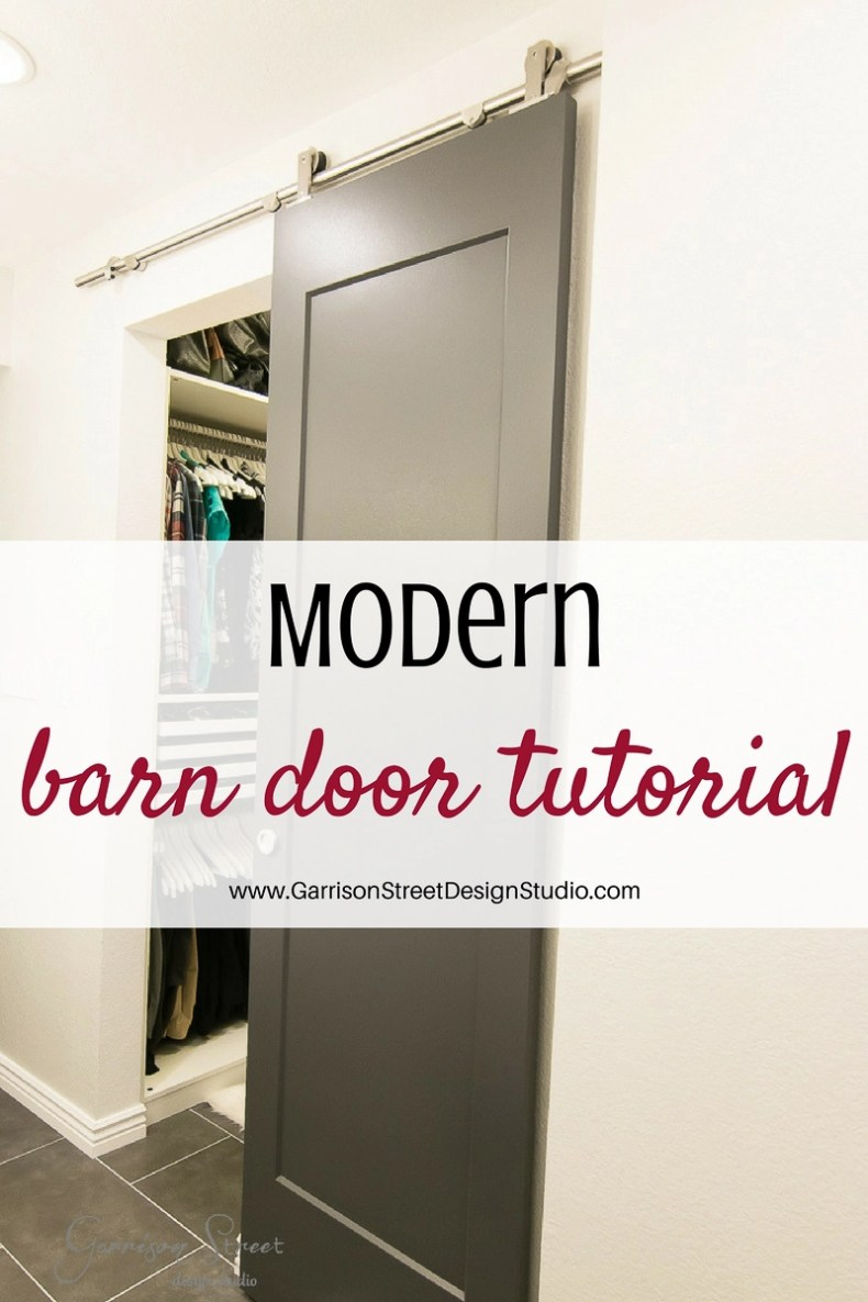 how to hang a modern barn door garrison street design studio. Black Bedroom Furniture Sets. Home Design Ideas