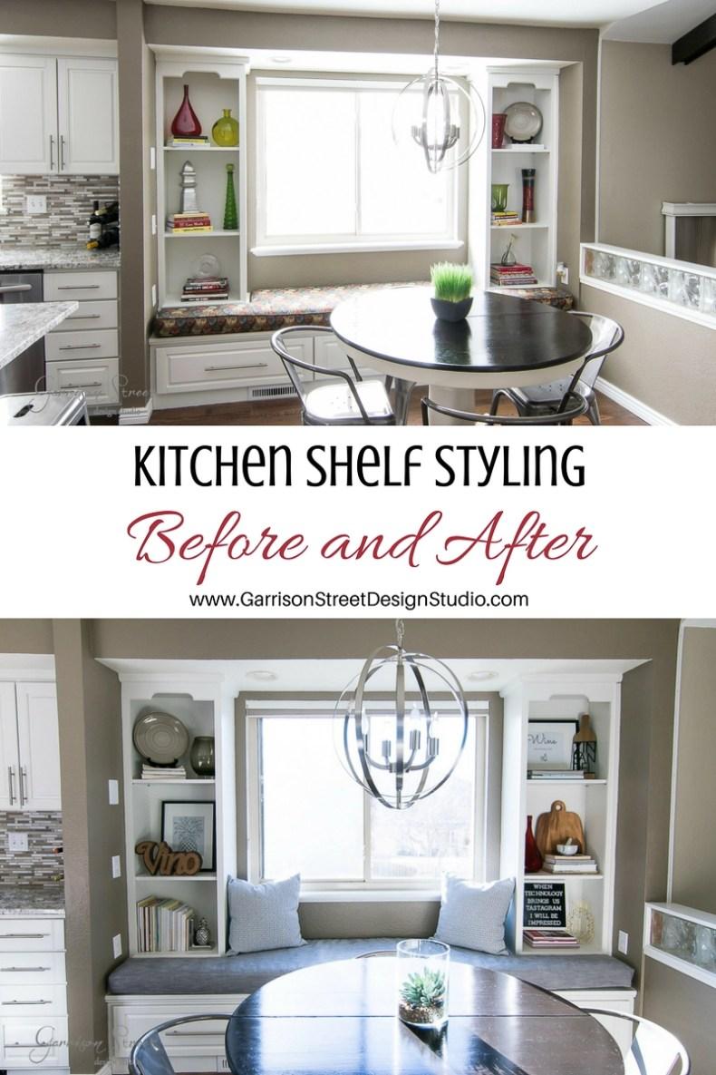 Kitchen Shelf Styling with Free Printable | Garrison Street Design ...