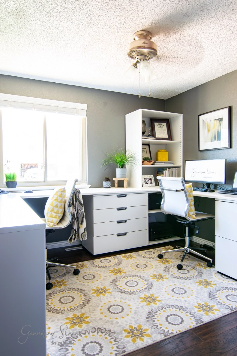 How Our Dual Ikea Home Office Saved Us Garrison Street Design Studio
