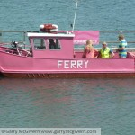 The pink ferry that runs between Warsash and the Hamble