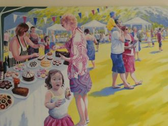Garden party painting