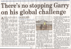 Garry McGivern newspaper clipping